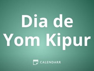 Dia de Yom Kipur