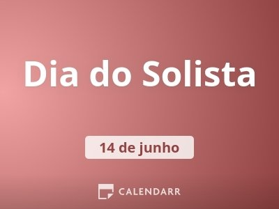 Dia do Solista