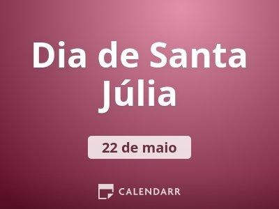 Dia de Santa Júlia