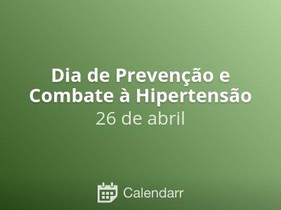Dia de Prevenção e Combate à Hipertensão