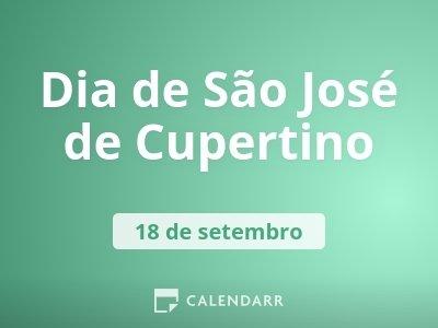 Dia de São José de Cupertino