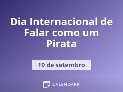 Dia Internacional de Falar como um Pirata