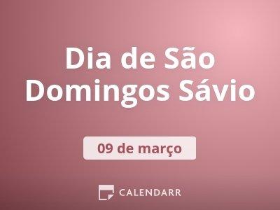 Dia de São Domingos Sávio