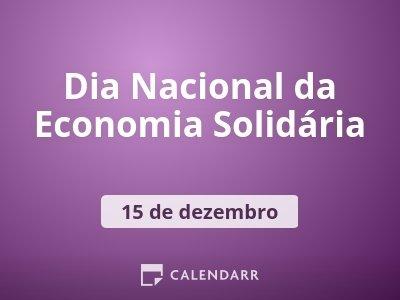 Dia Nacional da Economia Solidária