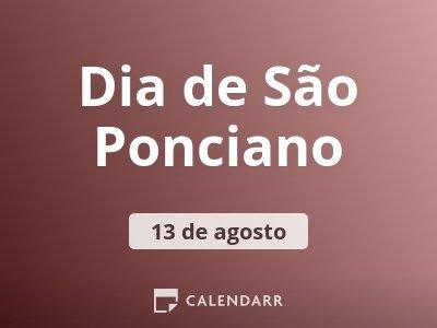 Dia de São Ponciano
