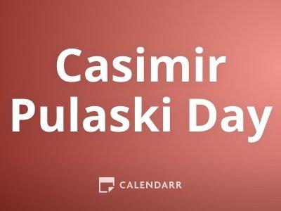 Casimir Pulaski Day