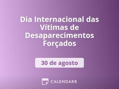 Dia Internacional das Vítimas de Desaparecimentos Forçados