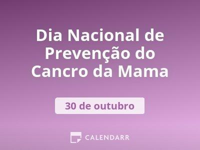 Dia Nacional de Prevenção do Cancro da Mama