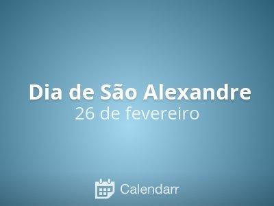 Dia de São Alexandre