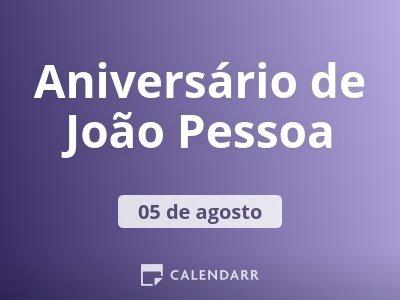Aniversário de João Pessoa