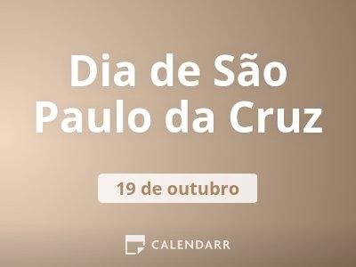 Dia de São Paulo da Cruz