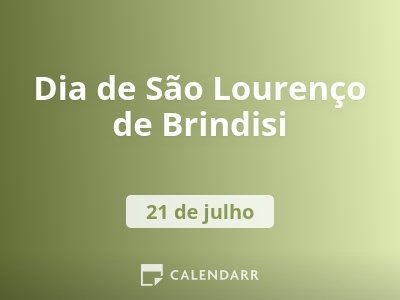 Dia de São Lourenço de Brindisi