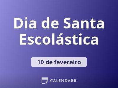 Dia de Santa Escolástica