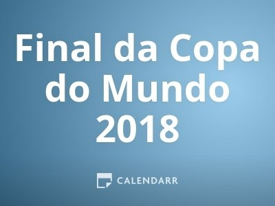 Final da Copa do Mundo 2018